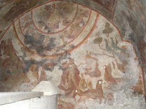 Τοιχογραφίες από την Αποκάλυψη στη Ζωοδόχο Πηγή στον Άγιο Βασίλειο Κορινθίας.